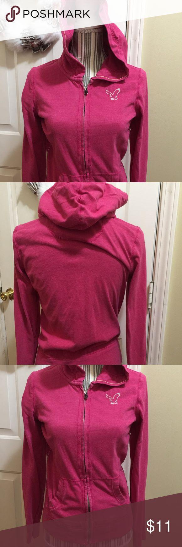 American Eagle Zip Up Hoodie Jacket Love American Eagle 💜 Size Medium American Eagle Outfitters Tops Sweatshirts & Hoodies