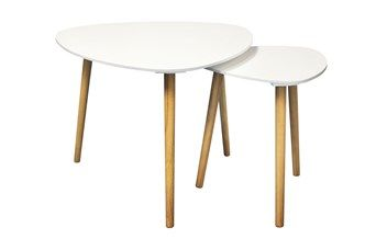 2 tables gigognes blanc potiron mobilier gigognes pinterest tables. Black Bedroom Furniture Sets. Home Design Ideas