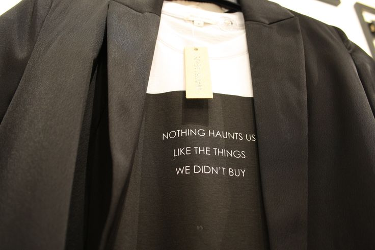 Nothing haunts us like the things we didn't buy #riverisland