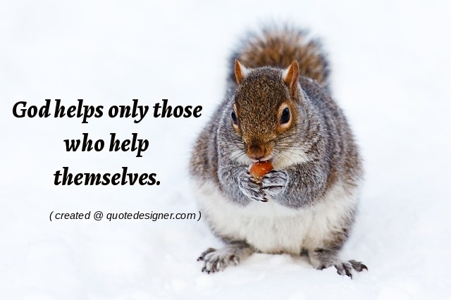 God helps only those who help themselves.