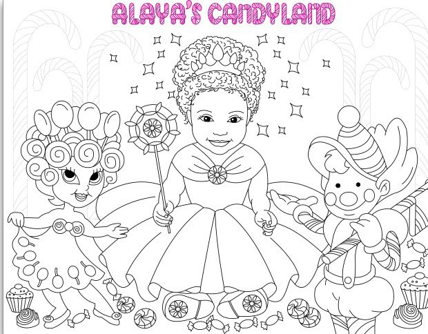 Coloring Page For Alayas Candyland