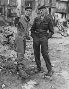 Burgess Meredith spent time with Ernie Pyle while the correspondent recuperated in New Mexico from the emotional after effects of surviving an accidental bombing by the Army Air Forces at the start of Operation Cobra in Normandy.
