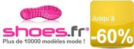 Vos chaussures de marque soldées jusqu'à -60% chez Shoes.fr