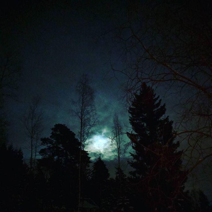 #fullmoon #winter #night #norway