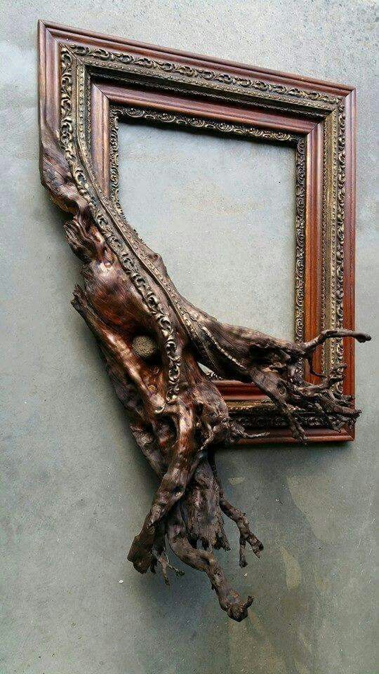 So cool! Picture frames fused with tree branches by fusionframesnw