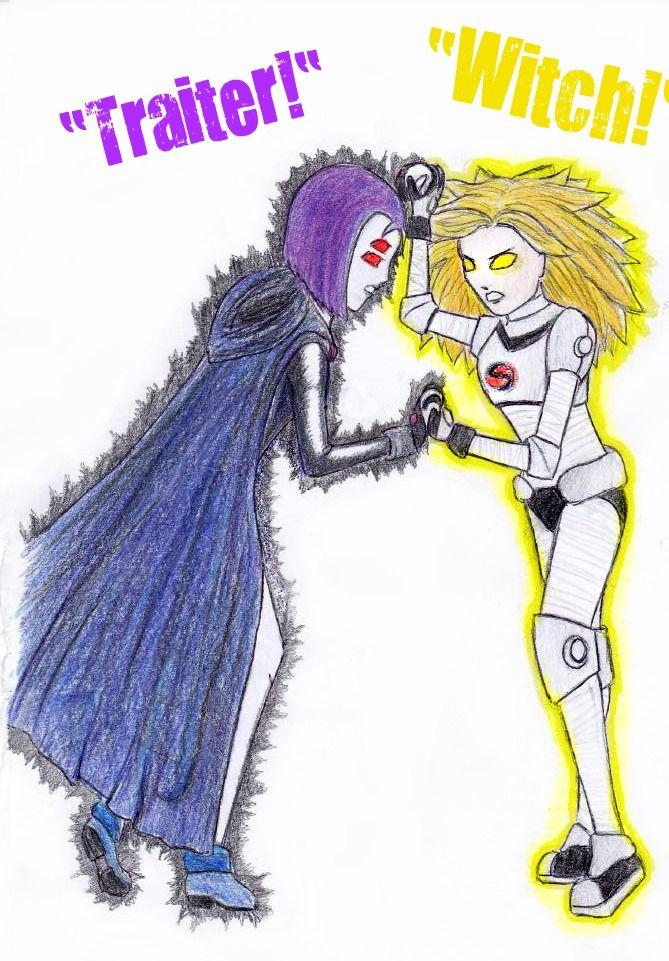 Teen Titans Raven Vs Terra  Raven Vs Terra By Tammyv -9363