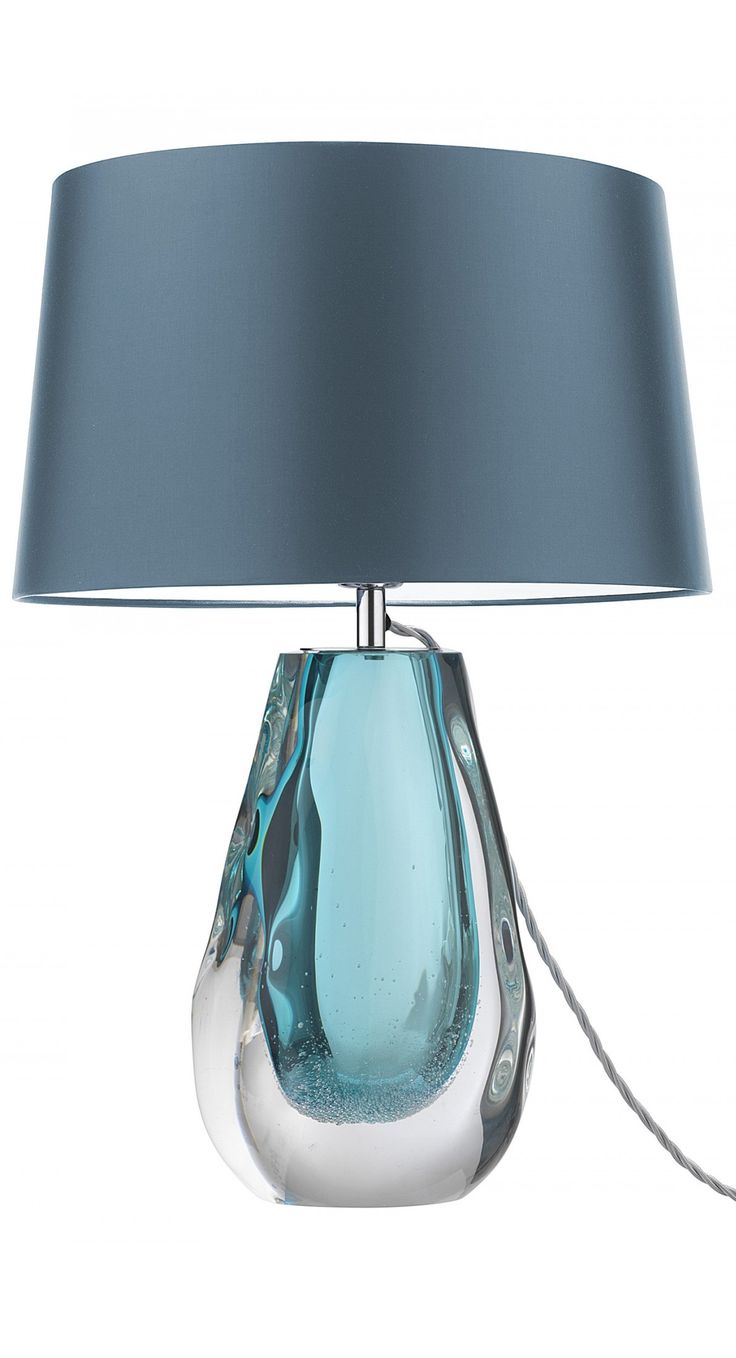 Freeblown And Hand Formed To Distort The Shape And Add Interesting  Silhouettes, This Stunning Table Lamp Has An Additional Decorative Detail  Of Small ...