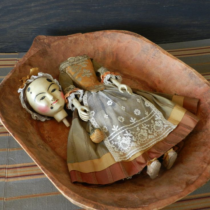 Antique English doll reproduction by Alena Sinel