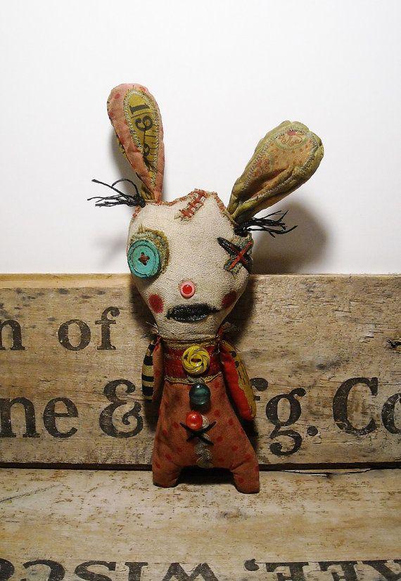Handmade Art Doll Bunny Mallow by JunkerJane