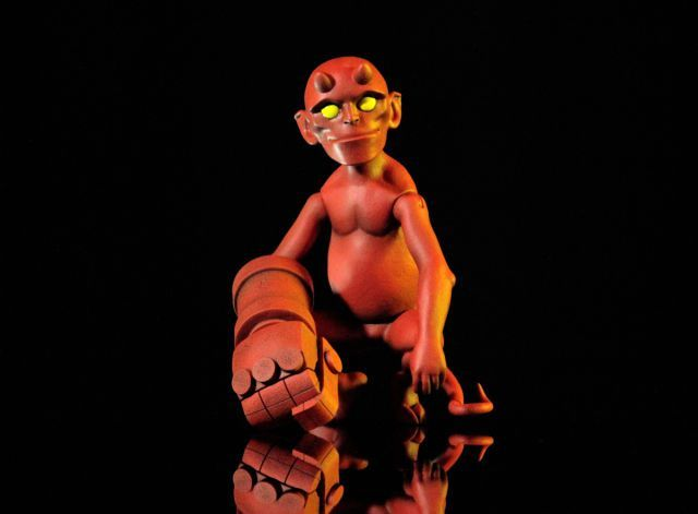 Mondo's Baby Hellboy 1/6 Scale Collectible Figure, now available for Pre-Order!