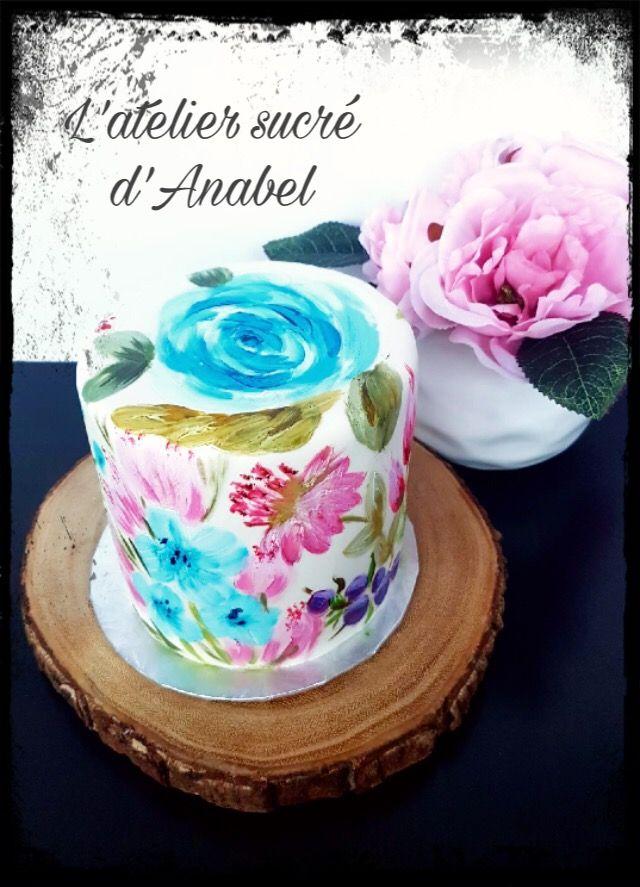 Gâteau fleuri. Art cake