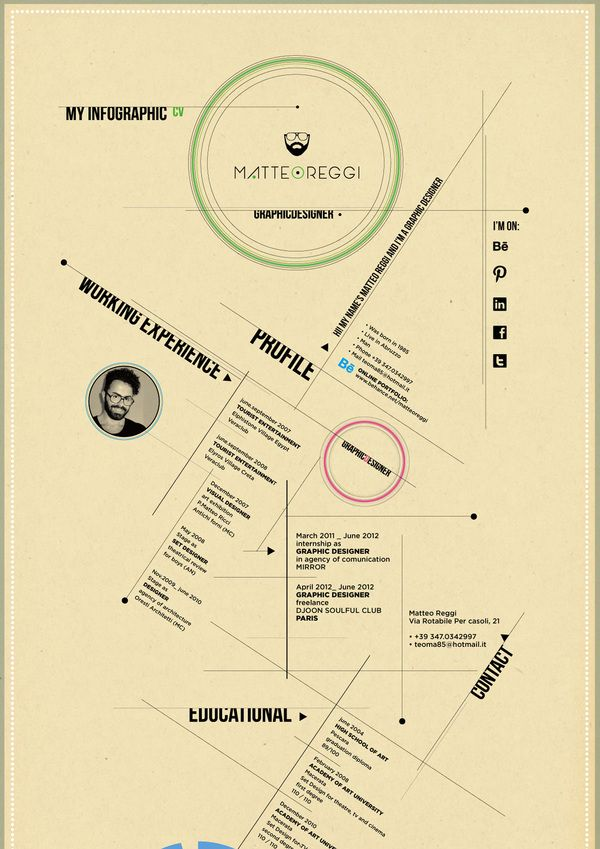 15 best CV Inspiration images on Pinterest Creativity, Graphics - most creative resumes