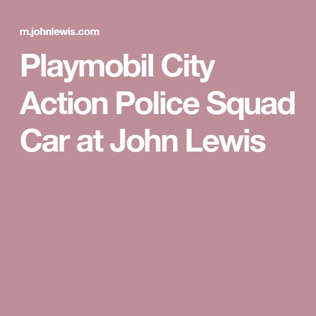 Playmobil City Action Police Squad Car at John Lewis