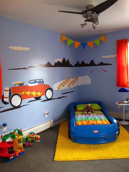 Josh's room from dec. 2009. now with more toys/schoolwork/clutter! definitely needs a revamp.