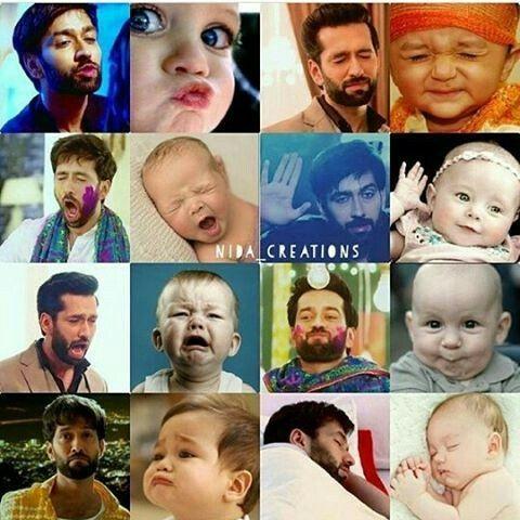 Same to same... Nakuul Mehta VS Cute baby.....