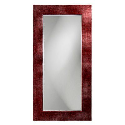 Elizabeth Austin Custom Color Lancelot Rectangle Full Length Mirror - 30W x 60H in. Glossy Black - 2142BL