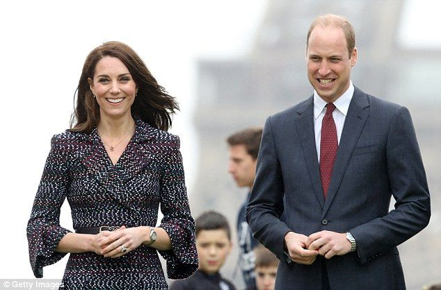 The Duke and Duchess of Cambridge (pictured together) are currently on a two-day visit to ...