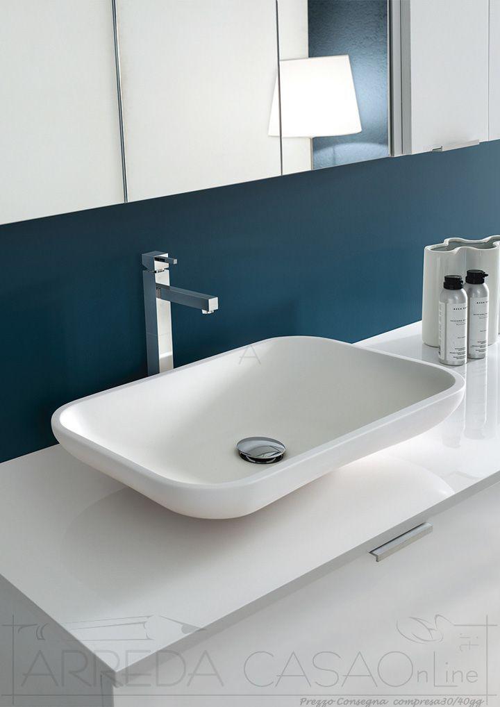 Arredo Bagno moderno specchiera contenitore Ly03 | Prezzo ARREDACASAOnLine