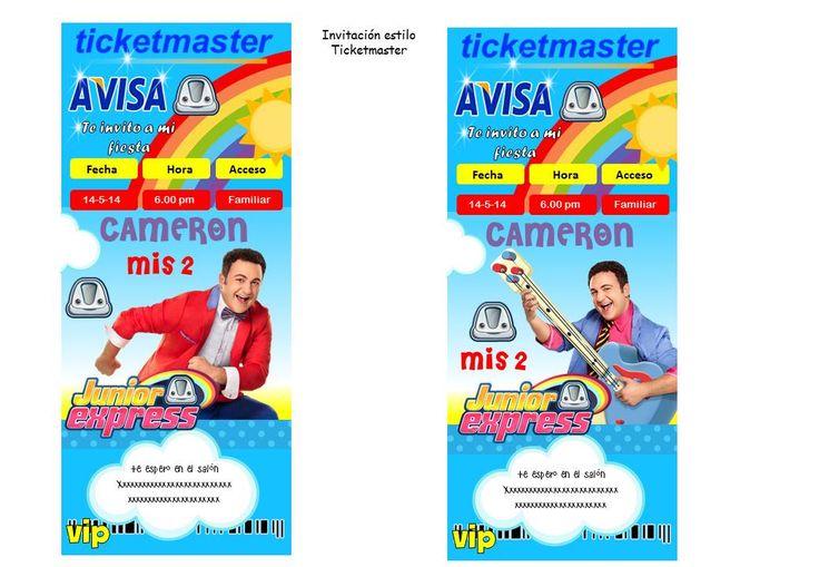 Kit Imprimible Topa Junior Express Cumpleaños Fiesta Torta - $ 40,00 en MercadoLibre