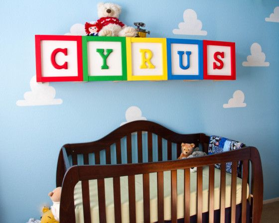 Project Nursery Toy Story With Oversized Alphabet Blocks