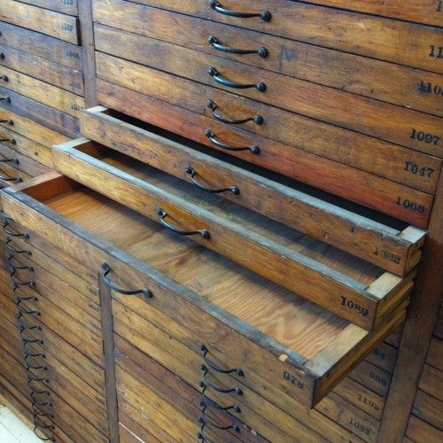 Phenomenal Vintage Printers Cabinet Industrial Loft Perfect Urban Store Display