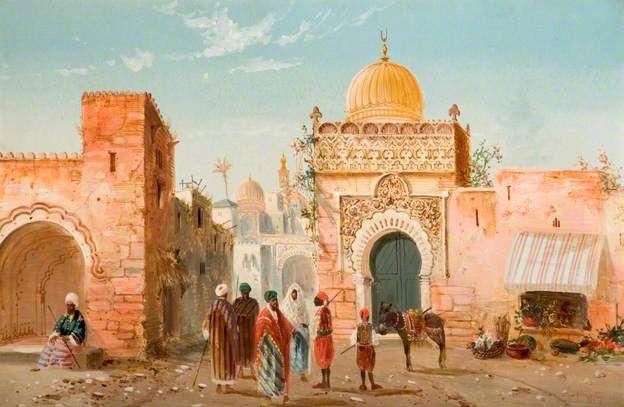 Arabian Village Scene by Henry Stanton Lynton