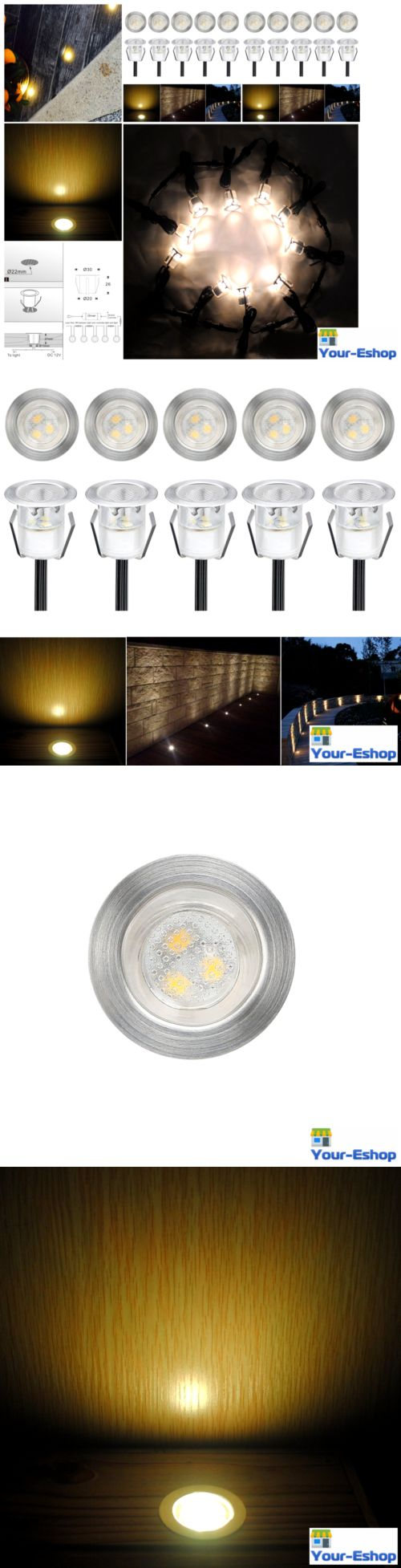 Landscape and Walkway Lights 94940: 10 12V Led Deck Lights Low Voltage Lighting Kit Waterproof Outdoor Garden Patio -> BUY IT NOW ONLY: $59.63 on eBay!