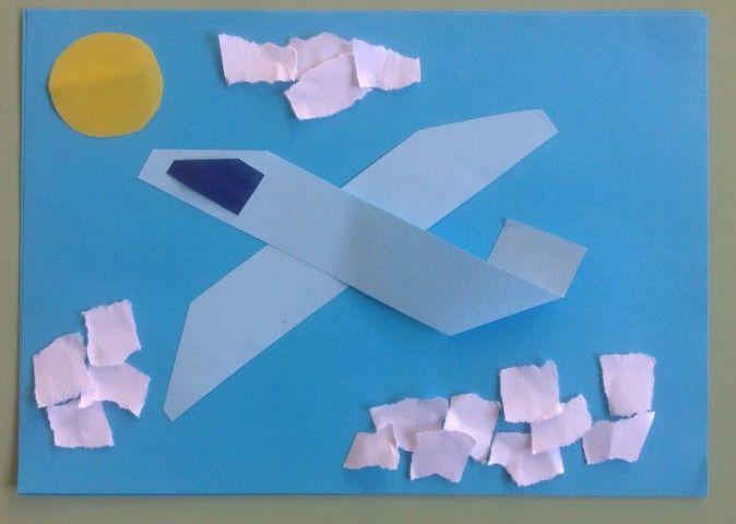 Аппликация. Поздравительная открытка «День защитника Отечества» для средней, старшей группы детского сада - Для воспитателей детских садов - Маам.ру