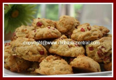 Rabarberkoekjes met kokosnoot