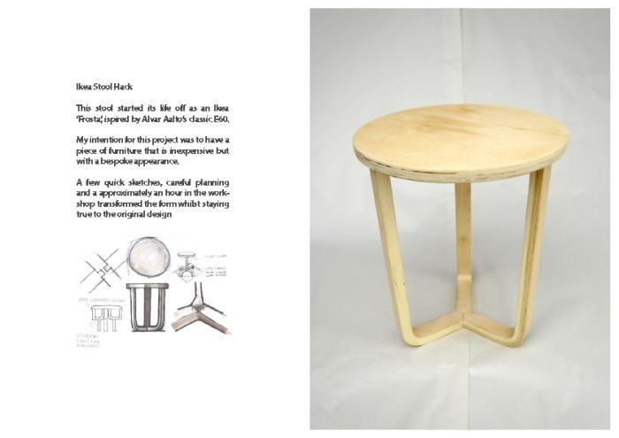Best Ikea Hack transform Frosta stool to lovely side table - legs upside down Ahmed Mehio
