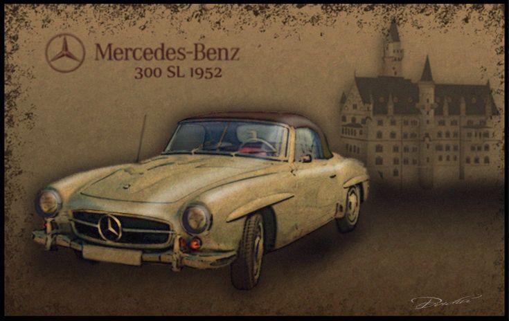 Mercedes-Benz 300      1952 by ovidiuart.deviantart.com on @DeviantArt