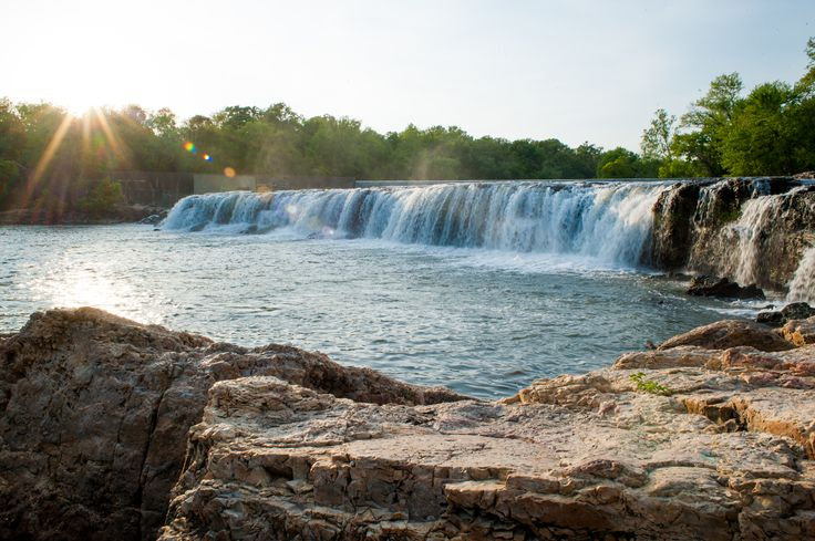 Grand Falls - Joplin, Missouri.  The largest continuously flowing waterfall in the state of Missouri.