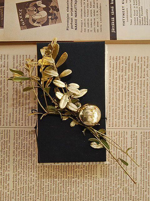 DIY- Mustaa, kultaa ja vintagea paketoinnissa - Humua -kaikkien juhlien ideapankki