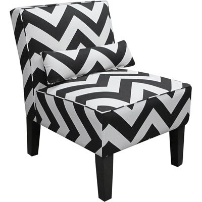 Skyline Furniture Chevron Armless Upholstered Accent Chair