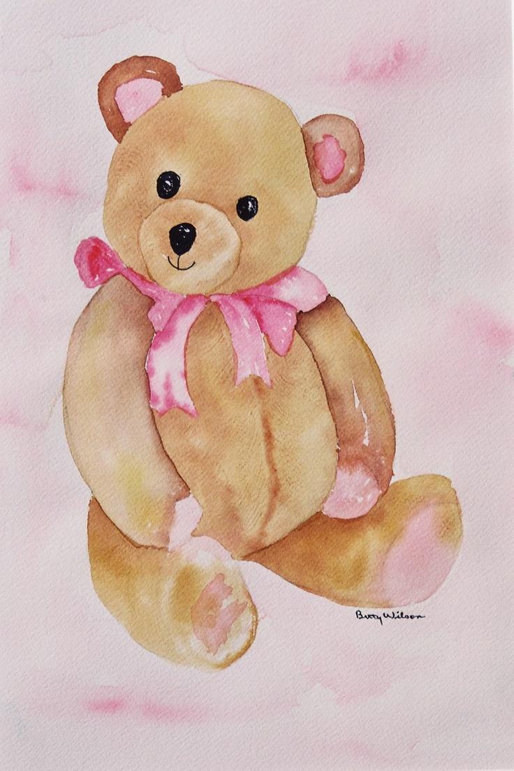 Teddy Bear Watercolor By Betty Wilson Betty Wilson Art
