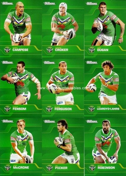 Canberra Raiders cards.