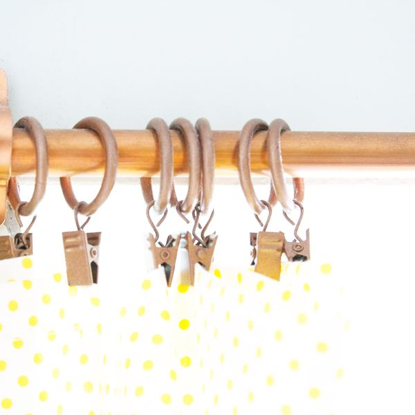 homemade curtain rods