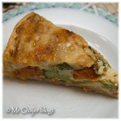 Hartige taart met zalm, broccoli en brie – Mr. Ooijer blogt