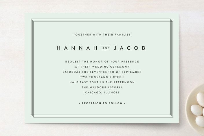 Elegantly Framed Wedding Invitations by Stacey Meacham at minted.com