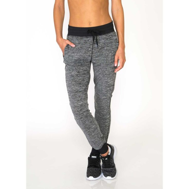 Studio Lightweight Sweater Hacci Cuffed Jogger Pant with Contrast Ribbed Banding