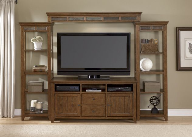 Gothic Cabinet Craft - Malibu Entertainment Wall Unit, $1,459.00 (http://www.gothiccabinetcraft.com/malibu-entertainment-wall-unit/)