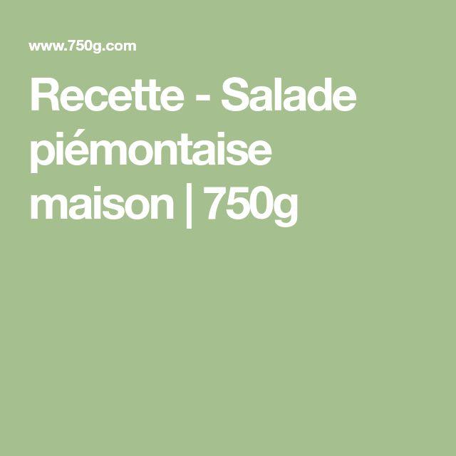 Recette - Salade piémontaise maison | 750g