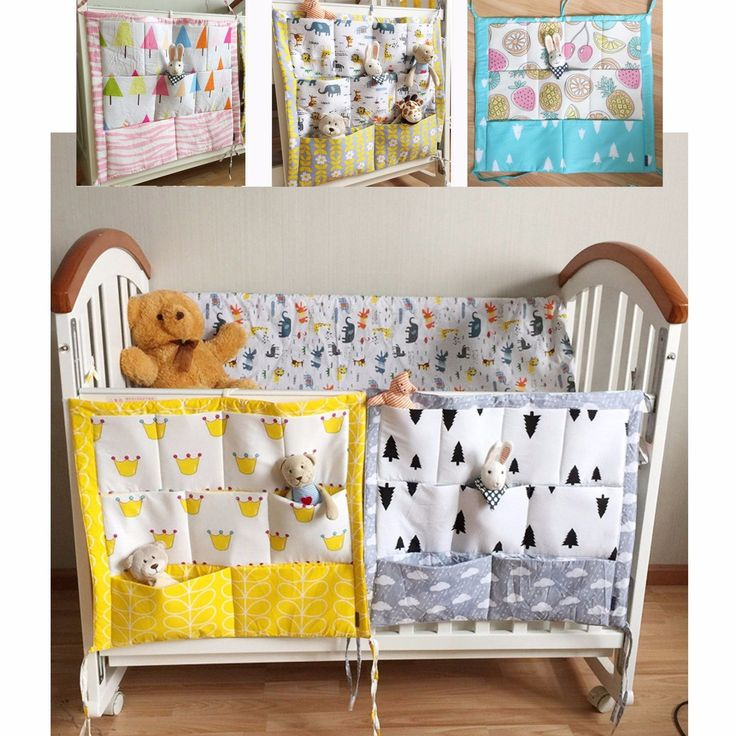 Cot cradle change table tie on nappy diaper organiser for Nursery hanging storage
