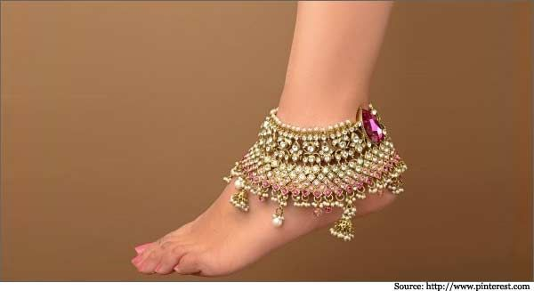 Ram Leela Deepika's Anklets   Anklets are also worn by most Indian brides on their wedding day.
