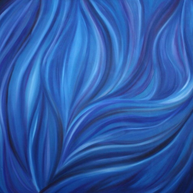 """Blue"" - Oil on Canvas, 48"" x 48"""