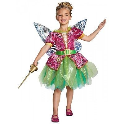 Tinkerbell Costume Kids & Toddler Disney The Pirate Fairy Halloween Fancy Dress