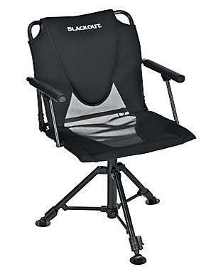 Blackout Swivel Hard Arm Chair Chair Hunting Blinds