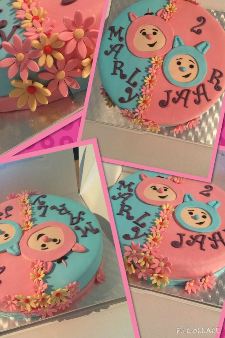 Billy and BamBam cake. Filled with strawberry jam and fresh buttercream.