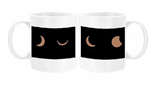 PHOTO MUG. Photo Mug. Artwork depicting Composite sequence of a solar eclipse United Kingdom Europe. Professionally made to order in the UK....
