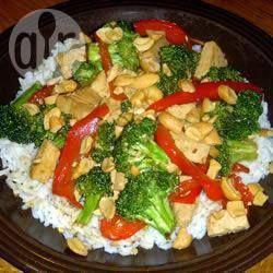 Broccoli, Capsicum and Tofu Stir Fry